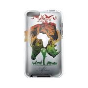 EIAP03AF [第2世代 iPod touch用 クリアジャケットケースセット earth wear 絶滅危惧種コレクション Africa(アフリカの絶滅危惧種たち)]