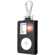 TUN-IP-100152 [iPod classic用 フックスタイルキャリングケース ブラックレザー/ホワイトステッチ]