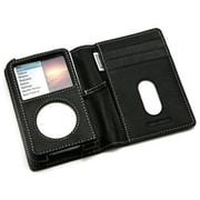 PRIE TUNEWALLET for iPod classic B/W ブラックレザー/ホワイトスティッチ [TUN-IP-300027]