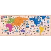 木製パズル世界地図 [木製シリーズ]