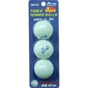 MS101 [卓球ボール 3個入 ホワイト]