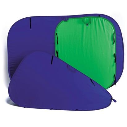 LC5687 [折り畳み式 リバーシブル クロマキー ブルー/グリーン 150×180cm]
