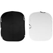 LC5621 [折り畳み式 リバーシブル ブラック/ホワイト 1.5×1.8m]