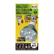 JS1708BA [LED電球 E17口金 温白色相当 230lm]