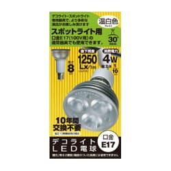 JS1708BB [LED電球 E17口金 温白色相当 230lm]