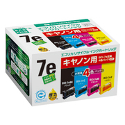 ECI-CA07E4P/BOX [キヤノン BCI-7E/4MP 互換リサイクルインクカートリッジ 4色パック]
