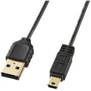 KU-SLAMB510BK [ミニUSBケーブル USB2.0対応 Aコネクタ-ミニBコネクタ 1.0m ブラック]