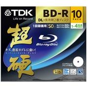 BRV50HCPWB10A [録画用BD-R DL 追記型 1-4倍速 片面2層 50GB 10枚 インクジェットプリンタ対応 超硬]