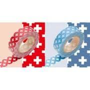 MT02D043 クロス・レッドxブルー [マスキングテープ 2個セット クロス レッド、ブルー]