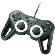 JC-U3312SBK [USBゲームパッド 12ボタン 振動 連射 高耐久 ブラック]