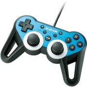 JC-U3312SBU [USBゲームパッド 12ボタン 振動 連射 高耐久 ブルー]