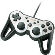 JC-U3312SSVD [USBゲームパッド 12ボタン 振動 連射 高耐久 ダークシルバー]