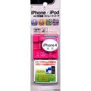 RB9AB14 [AC充電器 スタンダードタイプ iPhone3G/3GS・iPod・iPhone4対応 ストレートコード マゼンタ]