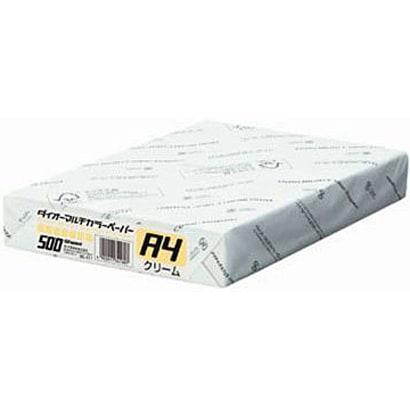 86-411 [ダイオーマルチカラー インクジェット/レーザー/コピー機対応 クリーム A4 500枚]