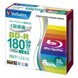 VBR130YP10V1 [録画用BD-R 1-4倍速 25GB 10枚 インクジェットプリンタ対応]