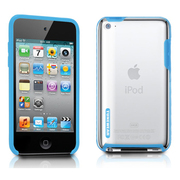 TUN-IP-000137 [第4世代iPod touch用ケース TUNESHELL RubbeFrame for iPod touch 4G ブルー]