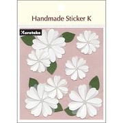 SBST300-3 [Handmade sticker K(ハンドメイドステッカーケイ) ヴェラムフラワー]