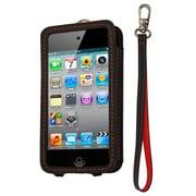 CP10008-LOBK [第4世代iPod touch用レザーオープンケース ブラック・レッド]