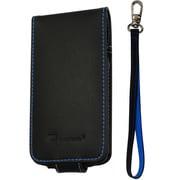 CP10008-LFBB [第4世代iPod touch用レザーフリップケース ブラック・ブルー]