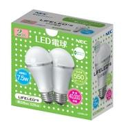 LDA8N-2P [LED電球 E26口金 昼白色相当 550lm 2個入]