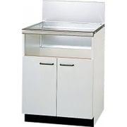 UKC-657-W [専用キャビネット 幅60cmタイプ 両開き式(後板スライドタイプ) キッチン奥行57cm対応 ホワイト扉]