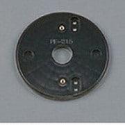 PF215B [樹脂絶縁台 丸形・黒色(屋外用) φ110]