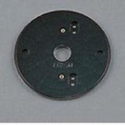 PF217B [樹脂絶縁台 丸形・黒色(屋外用) φ129]