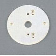PF217W [樹脂絶縁台 丸形・アイボリー色(屋外用) φ129]