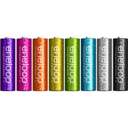 HR-3UTGA-8SL-Y [ニッケル水素充電池 単3形8本 eneloop tones glitter (エネループトーンズ グリッター) エネループ発売5周年限定モデル]