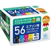 ECI-E564P/BOX [エプソン IC4CL56 互換リサイクルインクカートリッジ 4色パック]