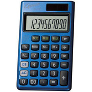 DX-150TBL [G-touch 携帯電卓 10桁 ブルー]