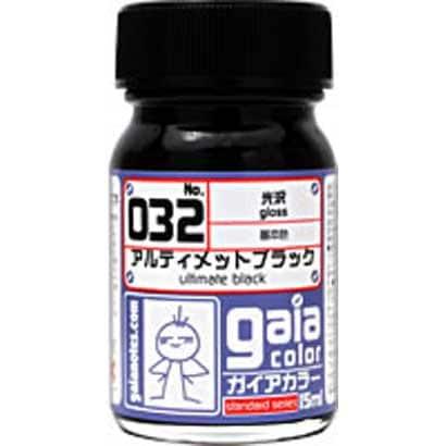 032 [ガイアカラー アルティメットブラック 15mL 光沢]