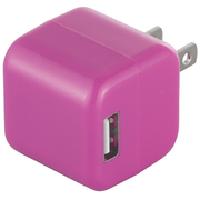 BSIPA06PK [キューブ型USB充電器 2ポートタイプ ピンク]