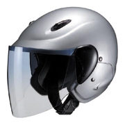 M-510 SEMI JET [電動バイク用ヘルメット セミジェット シルバー]
