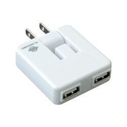 PL-WUCHG01 [2ポートUSB充電器 「充電万能」 ホワイト]