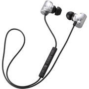 LBT-AVHP04ASV [Bluetooth 2.1+EDR対応ステレオイヤホン USB-ACアダプタ付き 携帯オーディオプレーヤー向けモデル シルバー]