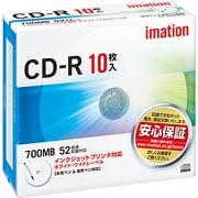 CDR80PWB10P [データ用CD-R 700MB 52倍速対応 インクジェットプリンタ対応ホワイトワイドレーベル 10枚]