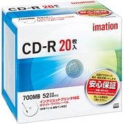 CDR80PWB20P [データ用CD-R 700MB 52倍速対応 インクジェットプリンタ対応ホワイトワイドレーベル 20枚]