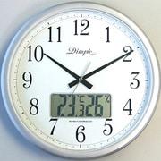 DRU865SL 97502 単3X2 [電波掛時計(デジタル温湿度計付き)]