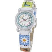 CAC-33-L04 [キッズ腕時計 ガールズ ホワイト/マルチカラー]