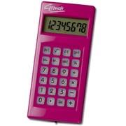 DX-140PK [G-touchイルミネーション 携帯電卓 8桁 ピンク]