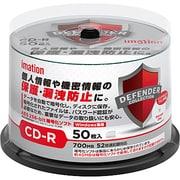 CDR80DCPWB50SA [データセキュリティ対応 DEFENDER CD-R 700MB ワイドホワイトプリントレーベル 50枚 Windows専用]