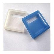 CNS01WB [第6世代 iPod nano用 シリコンケースセット ホワイト/ブルー 液晶保護フィルム2枚付]