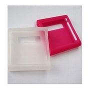 CNS01WP [第6世代 iPod nano用 シリコンケースセット ホワイト/ピンク 液晶保護フィルム2枚付]