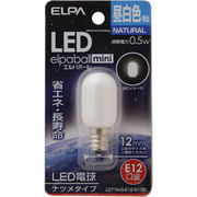 LDT1N-G-E12-G100 [LED電球 ナツメ球形 E12口金 昼白色 18lm LED elpaball mini エルパボール ミニ]