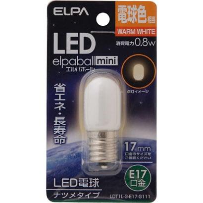 LDT1L-G-E17-G111 [LED電球 ナツメ球形 E17口金 電球色 35lm LED elpaball mini エルパボール ミニ]
