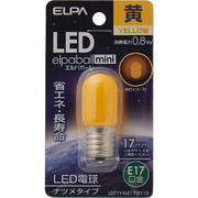 LDT1Y-G-E17-G113 [LED電球 ナツメ球形 E17口金 イエロー LED elpaball mini エルパボール ミニ]
