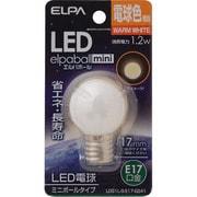LDG1L-G-E17-G241 [LED電球 E17口金 電球色 45lm LED elpaball mini(エルパボール ミニ)]