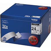 TZe-251V10 [ラベルライターピータッチ用 ラミネートテープ 10本パック 白テープ 黒文字 幅24mm 長さ8m]