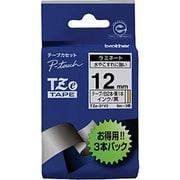 TZe-31V3 [ラベルライターピータッチ用 ラミネートテープ 3本パック(白テープTZe-231S×2本/黄テープTZe-631S×1本)黒文字 幅12mm 長さ5m]